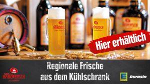 EDEKA Durasin verkauft in Elze das berühmte Hanöversch Bier